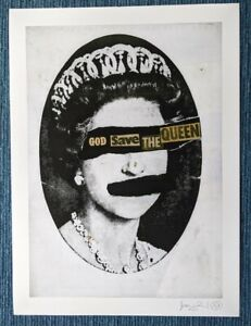 Jamie Reid GSTQ God Save The Queen Signed Limited edition fine art print 42/300