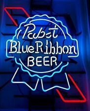 "New Pabst Blue Ribbon Neon Light Sign 20""x16"" Beer Cave Gift Lamp Bar Glass"