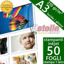 Druckmich Carta da Foto lucido Brillante 210gr/m² per A3 50 Pz.