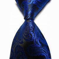 2016 Mens New 100% Classic Paisley Jacquard Woven Silk Tie Necktie Fashion Style