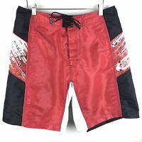 Oakley Mens Size 34 Board Shorts Red Surf Swim