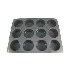 Silicone Round Mold Cup Cake Muffin 12 x 3 oz Cavity Steadys BC-1215