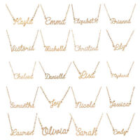 Choker Custom Name Pendant Chain Customized Nameplate Necklace Jewelry Xmas Gift