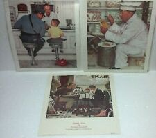 1973 Curtis Publicating Norman Rockwell 10 x 8 Litho set of 3. Donald Art Co Ny