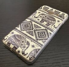 For Samsung Galaxy Grand Prime G530 - HARD RUBBER SKIN CASE COVER AZTEC ELEPHANT