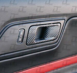 2015-2019 Mustang Carbon Fiber Door Handle Decal Accent kit - Ford