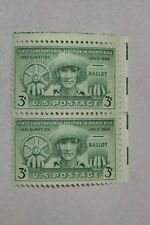 $0.03 Cents Puerto Rico Inauguration Jan. 2, 1943 Stamps Plate Block of 2