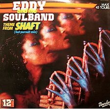 ++EDDY AND THE SOUL BAND theme from shaft/love-train MAXI 1984 BARCLAY VG++