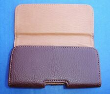 Western Apple iPhone 5 Quality Brown Leather Belt Clip Holster/Case