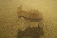 Small Elgin Mexico Carved Onyx Donkey/Mule Figurine + Metal Boat Ashtray (U)