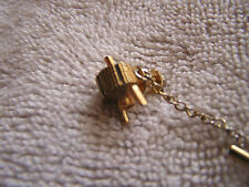 Vintage Tie Clip Clasp Tack with Space Ship Crest Craft