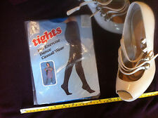 Tights For Exercise Dance Casual Wear Blue Short 5-5.3 Vintage 70's Hosiery New