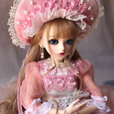 60cm 1/3 BJD Doll Pretty Girl + Changeable Eyes + Face Makeup + Dress Clothes