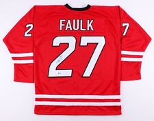 Justin Faulk Signed Hurricanes Jersey (Beckett) 37th Overall Pick 2010 NHL  Draft 9ad527fe4
