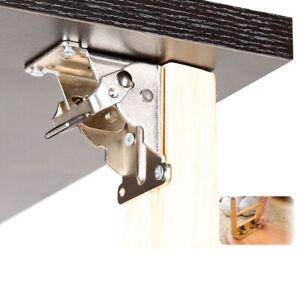 90° Steel Table Leg Bracket Folding Hinge Furniture Hardware Self-Locking AN