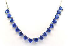 Item #792 Glacier Blue Topaz (Hrt) Necklace, 14 - 18 in. Platinum Overlay Sterli