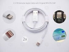 2x 1M Apple Genuine Sync & Charger Lightning USB Data Lead Cable iPhone/7/8/X
