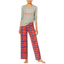 b610b7d15175 Jenni by Jennifer Moore Knit Top & Printed Pants Pajama Set XL Holiday Plaid