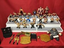 WWE, WWF 40  Loose Wrestling Figures and  Accessories Mini Mighty Brawlers