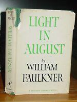 Light in August, William Faulkner, Tale Mississippi, Modern Library 1950 HC-DJ