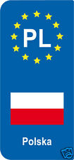 lot 2 Stickers style immatriculation (Vinyl FLAG) Europe Polska PL