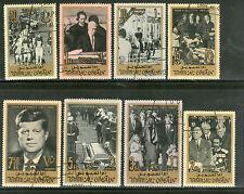Umm Al Qiwain 1965 John F. Kennedy US President Sc 26-33 Cancelled 8v # 3277