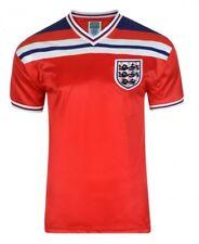 Score Draw Official Retro Football Mens England 1982 World Cup Finals Away Shirt 2xl