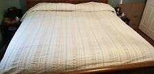 New listing Vintage Seersucker King Size Bedspread 116 X 97 Soft Pastel Colors