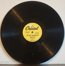"MICKEY KATZ ""Why Don't You Believe Me?"" RARE 1953 1ST DG CAPITOL 78 YELLOW PROMO"