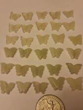 "30 Serpentine Jade 1/4×1/2"" Carved Butterfly Gemstone Bead Charm Pendant Craft"