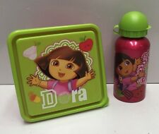 DORA THE EXPLORER STAINLESS STEEL HYDRO CANTEEN DRINK BOTTLE 500ML & SNACK BOX
