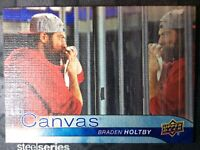 UPPER DECK 2016-2017 SERIES ONE CANVAS BRADEN HOLTBY HOCKEY CARD C-83