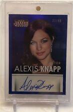 2015 Alexis Knapp Panini Americana Autograph Card 23/49 AU Auto  Pitch Perfect