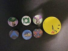 "lot of 7 various Marvel DC superhero 1.5"" pins"
