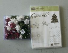Stampin' Up! Add A Little Glitz Rubber Stamp Set + Seasons Of Glitz Bows NEW