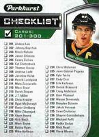 2016-17 Parkhurst #399 Sidney Crosby Checklist Hockey Card! NM-M
