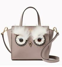 KATE SPADE Star Bright Owl MINI HADLEE Bag Satchel Gray Cityscape Leather NWT