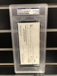 Rocky Marciano Rocco Marchegiano Signed Check PSA/DNA Authentic Autograph Auto