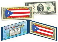 PUERTO RICO - FLAG SERIES $2 U.S. Bill - Genuine Legal Tender Bank Note