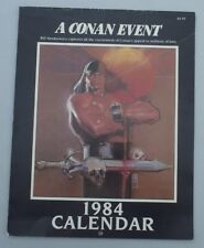 A CONAN EVENT CALENDER  ....Fine ....Bill Sienkiewicz!   ..1984.......Bargain!