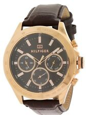 Tommy Hilfiger Sophisticated Sport Leather Chronograph Mens Watch 1791225