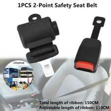 1PC 2-Point Safety Seat Belt Diagonal Extend Car Truck Engineering Vehicle Black