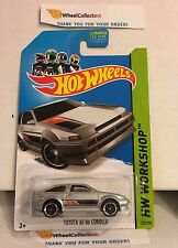 Toyota AE-86 Corolla #222 * Silver * 2014 Hot Wheels * Y3