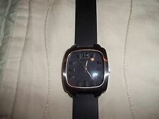 Android USA by Aragon Japan Movt  Mens Watch Rubber Band Black Face