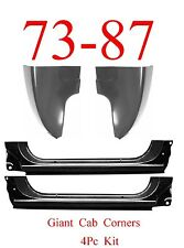73 87 4Pc Giant Extended Rocker Panel & Cab Corner Kit Chevy & GMC Truck