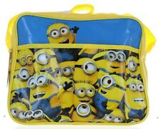Despicable Me Minions Shoulder Messenger School Bag Yellow Blue Lunch Sport Gift
