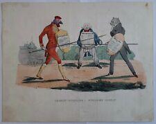 Combat singulier Singulier combat dans La Silhouette 1830 par Arago Litho 19è