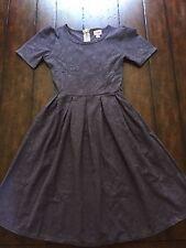 Lularoe Amelia Dress Solid Dusty Plum Purple, Disney Roses XS/Extra Small NWOT