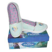 FROZEN Zapatos Bailarinas Azules Elsa Oficial DISNEY Zapatillas Lona Nuevo
