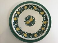 Bavaria Savoy W.Goebel W. Germany Handdecorated Lemon & Leaves Dinner Plate, 10""